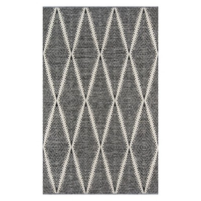 3'6 X5'6  Geometric Accent Rug Black - Erin Gates By Momeni