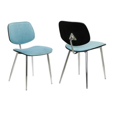 Set of 2 Lizzy Modern Dining Accent Chairs - Armen Living