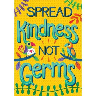 One World Spread Kindness, Not Germs Poster - Carson Dellosa
