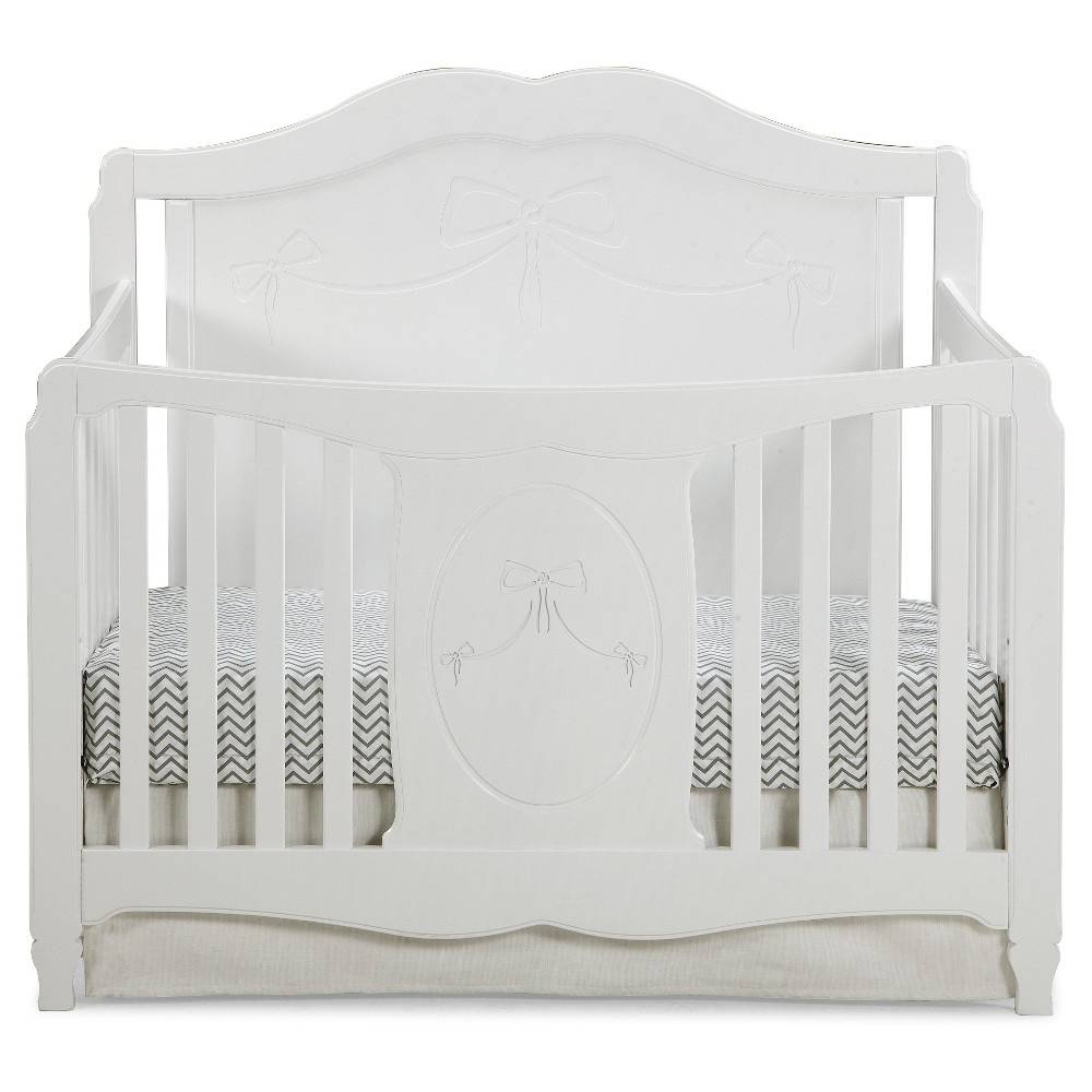 Storkcraft Princess 4-in-1 Fixed Side Convertible Crib - White