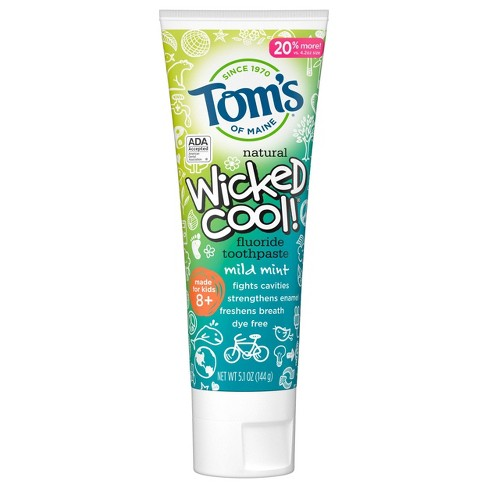Tom's of Maine Wicked Cool! Mild Mint Anti-cavity Toothpaste - 5.1oz - image 1 of 4