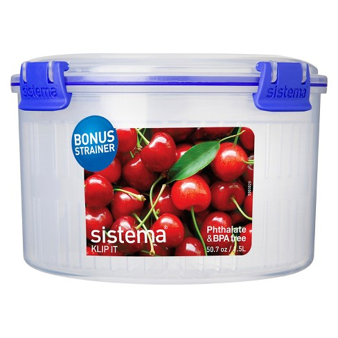 Sistema Klip It 50.7oz Round Container with Basket - image 1 of 2