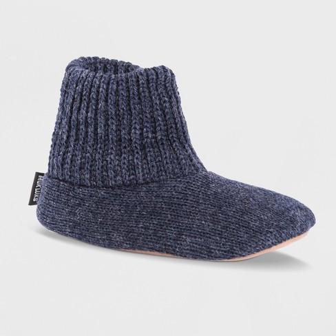 7dd50b9f9e1a Men s MUK LUKS® Wool Slipper Socks - Navy S(7-8)   Target
