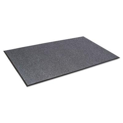 3'x5' Rectangle Solid Floor Mat Gray - Crown