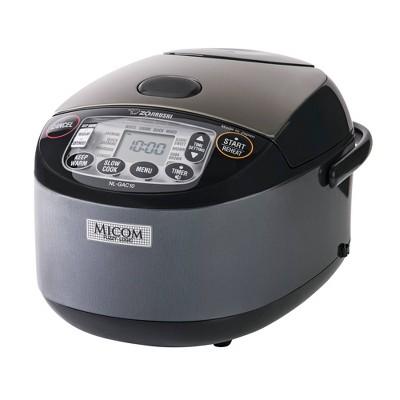 Zojirushi 5.5 Cup Umami Micom Rice Cooker & Warmer Metallic Black - NL-GAC10BM