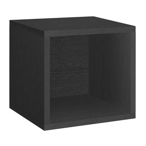 Way Basics Stackable Eco Cube Storage Cubby Organizer, Black - Formaldehyde Free - Lifetime Guarantee - image 1 of 12