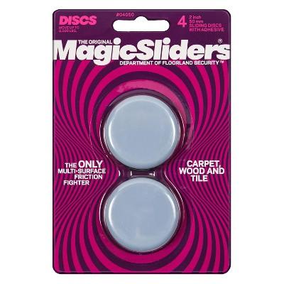"Magic Sliders 4-pk. Utility Sliding Discs with Adhesive 2"""