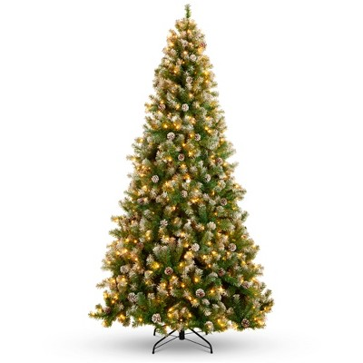 Best Choice Products Pre-Lit Pre-Decorated Holiday Christmas Tree w/ Flocked Tips, Metal Base