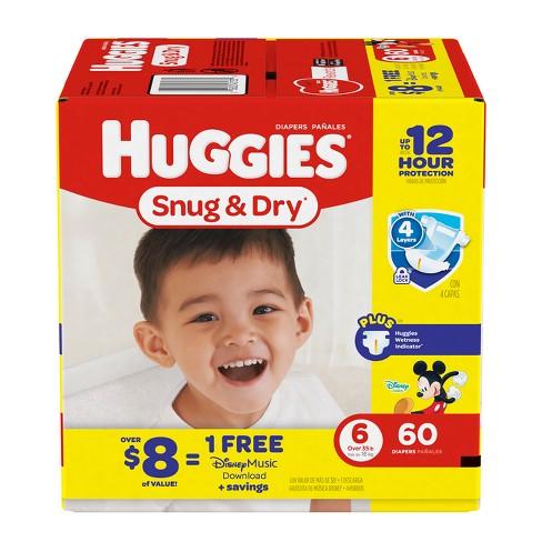 Huggies Snug & Dry Diapers Big Pack - Size 6 (60ct) - image 1 of 3