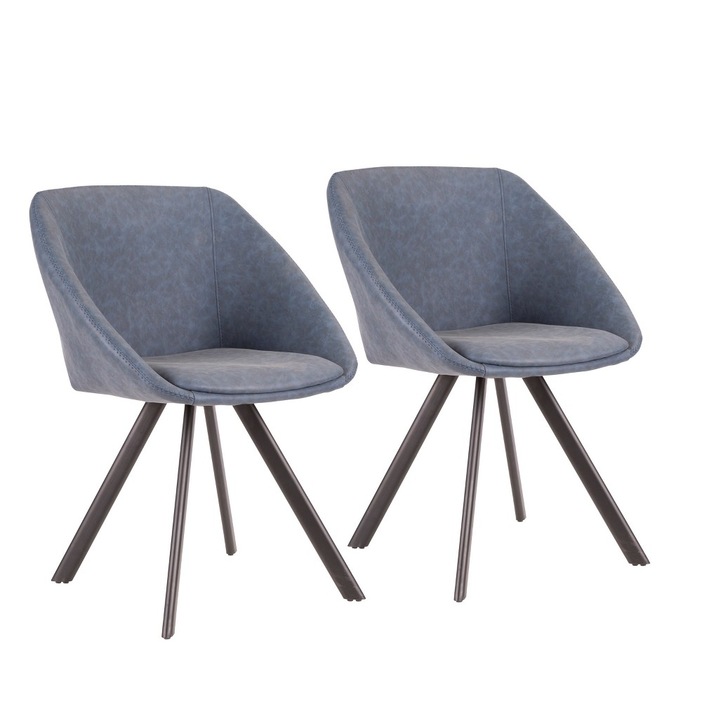 Set of 2 Matisse Contemporary Chair Blue - LumiSource