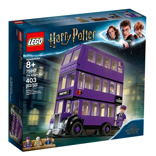 LEGO Harry Potter The Knight Bus 75957 Triple Decker Toy Bus Building Kit 403pc image number null