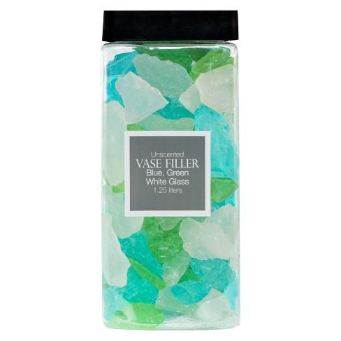 Glass Vase Filler Bluegreenwhite 125l Lloyd Hannah Target
