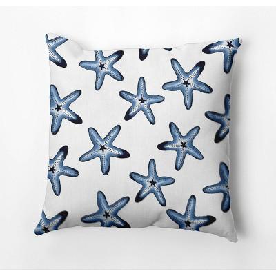 "18""x18"" Soft Starfish Square Throw Pillow - e by design"