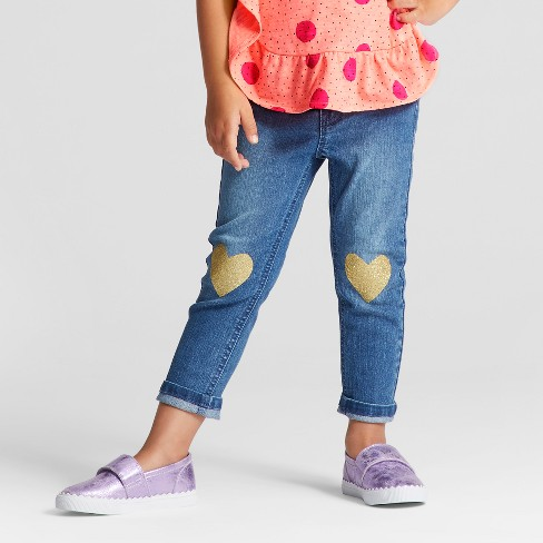 44721bbbc5a91 Toddler Girls' Skinny Jeans - Cat & Jack™ Medium Blue : Target