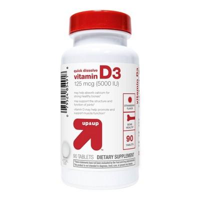 Vitamin D 5000iu Quick Dissolve - 90ct - up & up™
