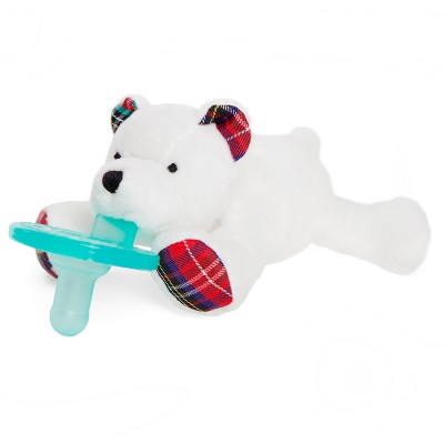 WubbaNub Polar Bear Pacifier - White