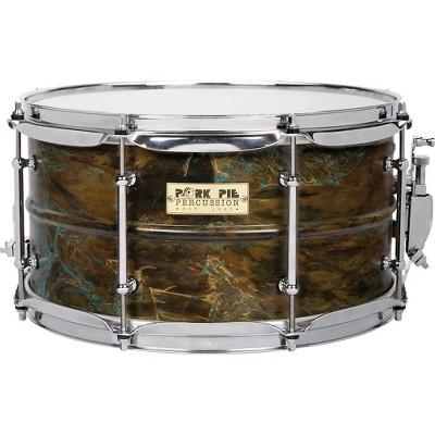 Pork Pie Brass Patina Snare Drum 7 x 13