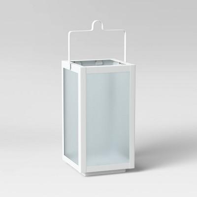 "10"" Rectangular Pillar Outdoor Lantern Candle Holder - Room Essentials™"