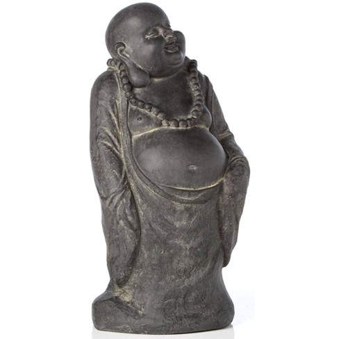 """9.75"""" Indoor/Outdoor Resin Buddha with Belly Statue Brown - Alfresco Home LLC - image 1 of 4"""