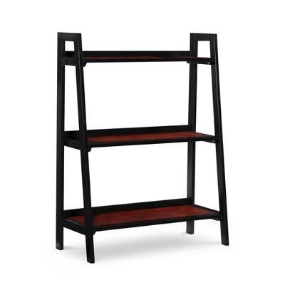 "40"" Calum 3 Shelf Bookshelf Black Cherry - Linon"