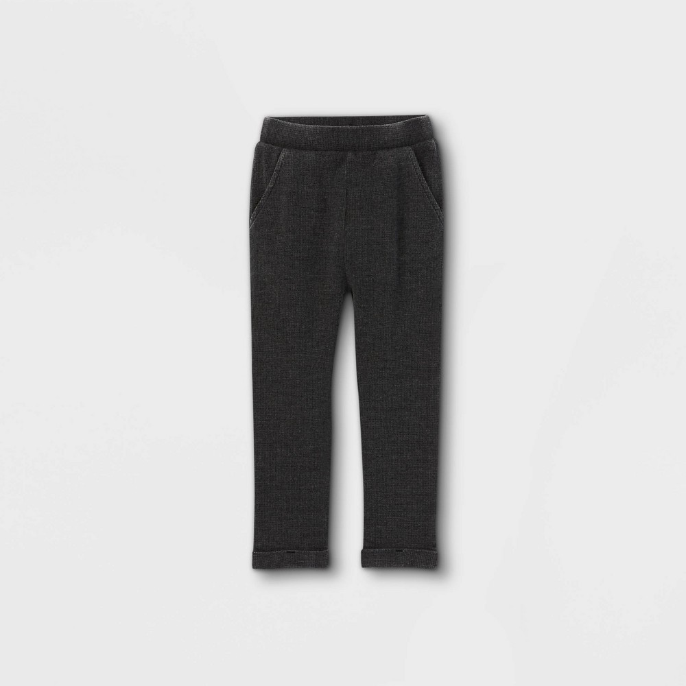 Toddler Boys 39 Thermal Sweatpants Art Class 8482 Washed Black 4t