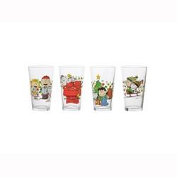 Peanuts 16oz 4pk Glass Pint Set - Vandor