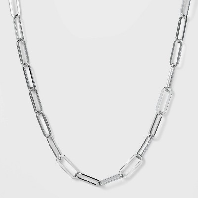 SUGARFIX by BaubleBar Bold Link Chain Statement Necklace - Silver