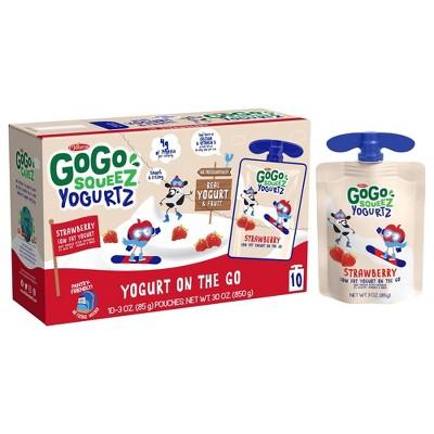 GoGo squeeZ Kids' YogurtZ, Strawberry - 3oz/10ct