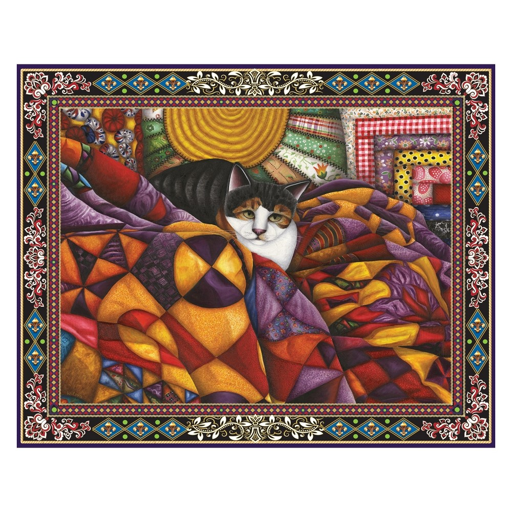Springbok Quilted Cat 1000pc Jigsaw Puzzle