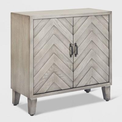 Friedman Bar Cabinet with Wine Storage Gray - Finch