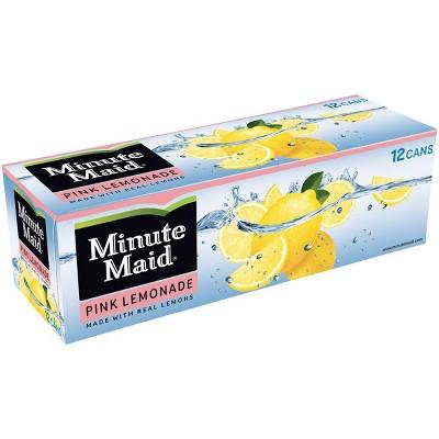 Minute Maid Pink Lemonade - 12pk/12 fl oz Cans
