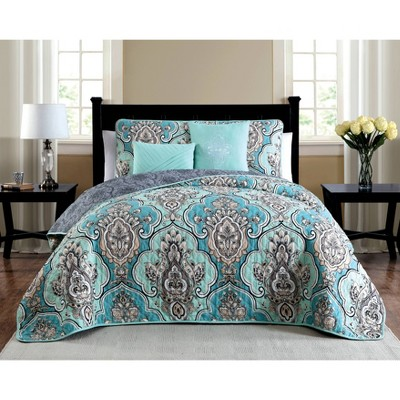 Geneva Home Fashion Avondale Manor Odette Medallion Quilt & Sham Set