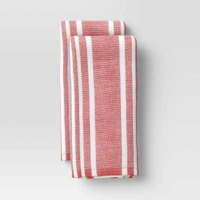 2pk Cotton Striped Terry Kitchen Towels - Threshold™