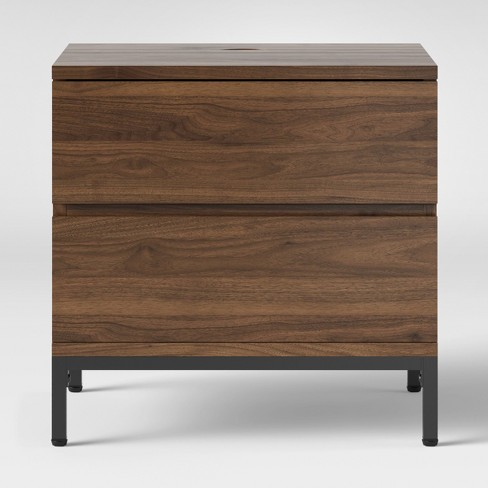 Loring 2 Drawer Nightstand Walnut - Project 62™ - image 1 of 3