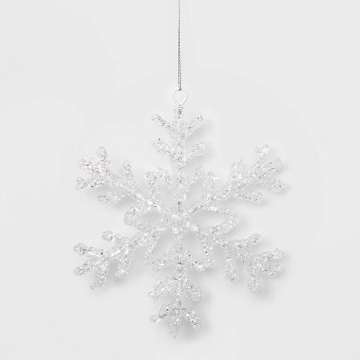 Acrylic Snowflake Christmas Ornament Clear   Wondershop™ by Shop This Collection