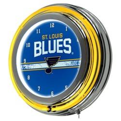 NHL Chrome Double Rung Neon Clock