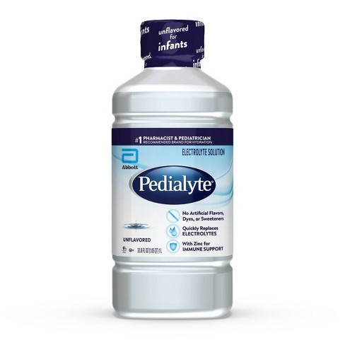 Pedialyte Electrolyte Solution Unflavored - 33.8 fl oz - image 1 of 4
