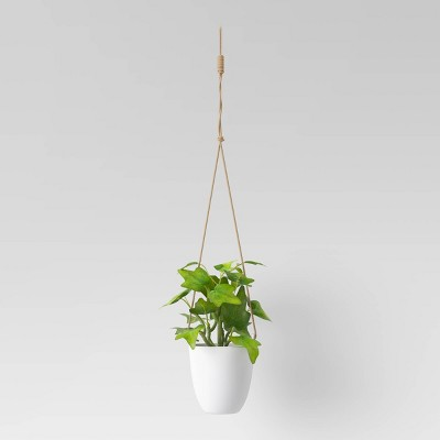 Artificial Hanging Potted Plant White - Room Essentials™