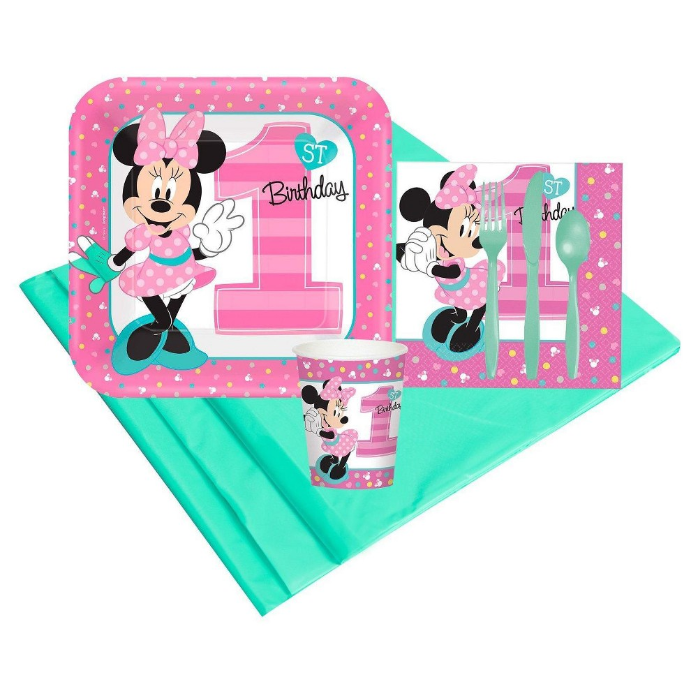 Image of 8ct Disney Minnie Mouse 1st Birthday Party Pk