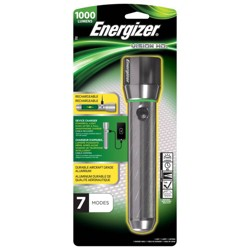 Energizer Vision HD Rechargeable Metal LED Light Silver