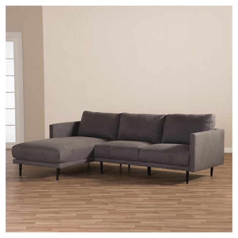 Riley Retro Mid - Century Modern Fabric Upholstered Left Facing ...