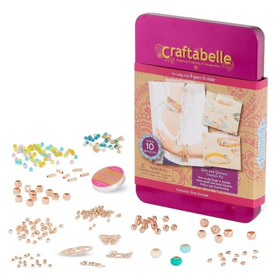 Craftabelle Jewelry Set with Assorted Beads Glitz and Glimmer Creation Kit 310pc