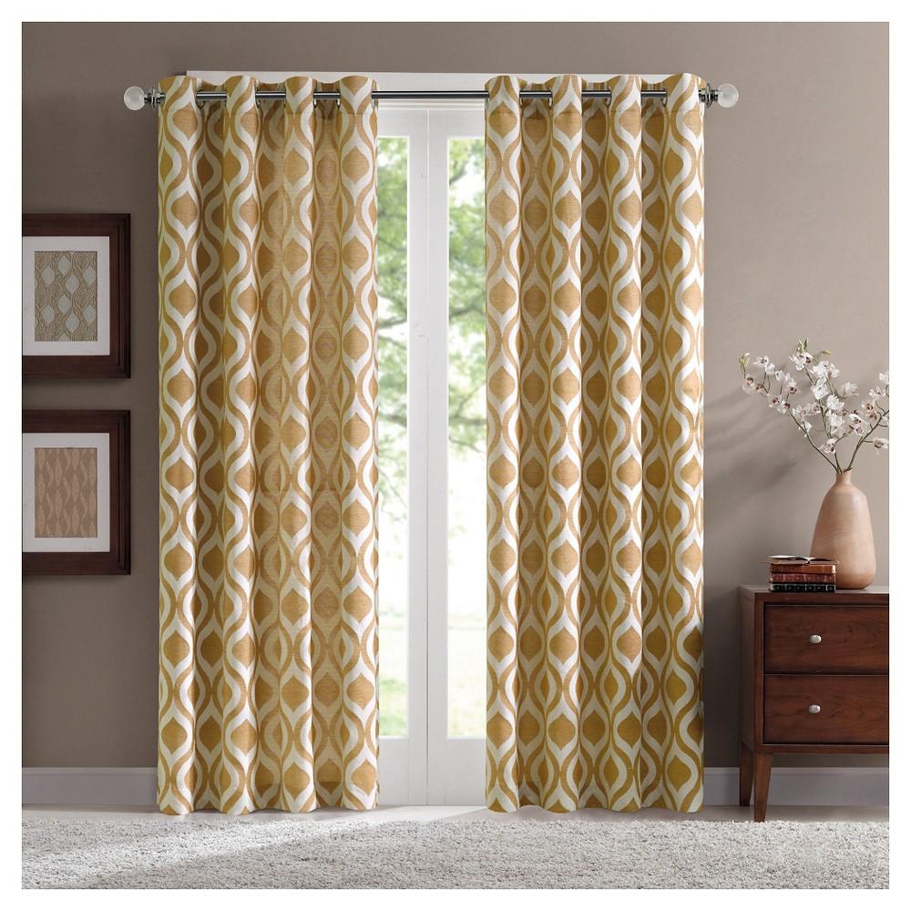 Mestre Geo Chenille Curtain Panel - Yellow (52