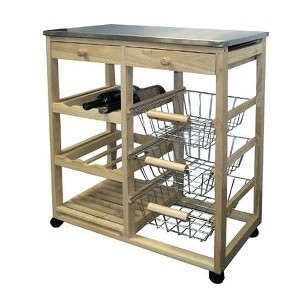 Kitchen Cart Wood/Natural - Ore International