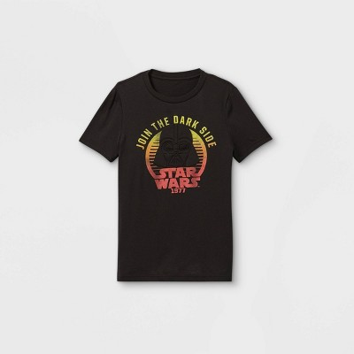 Boys' Star Wars Darth Vader Join The Dark Side Short Sleeve Graphic T-Shirt - Black