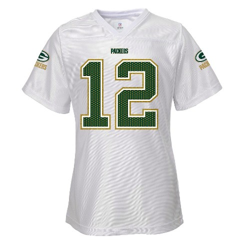 Green Bay Packers Toddler/Infant Girls White Jersey 18 M - image 1 of 2