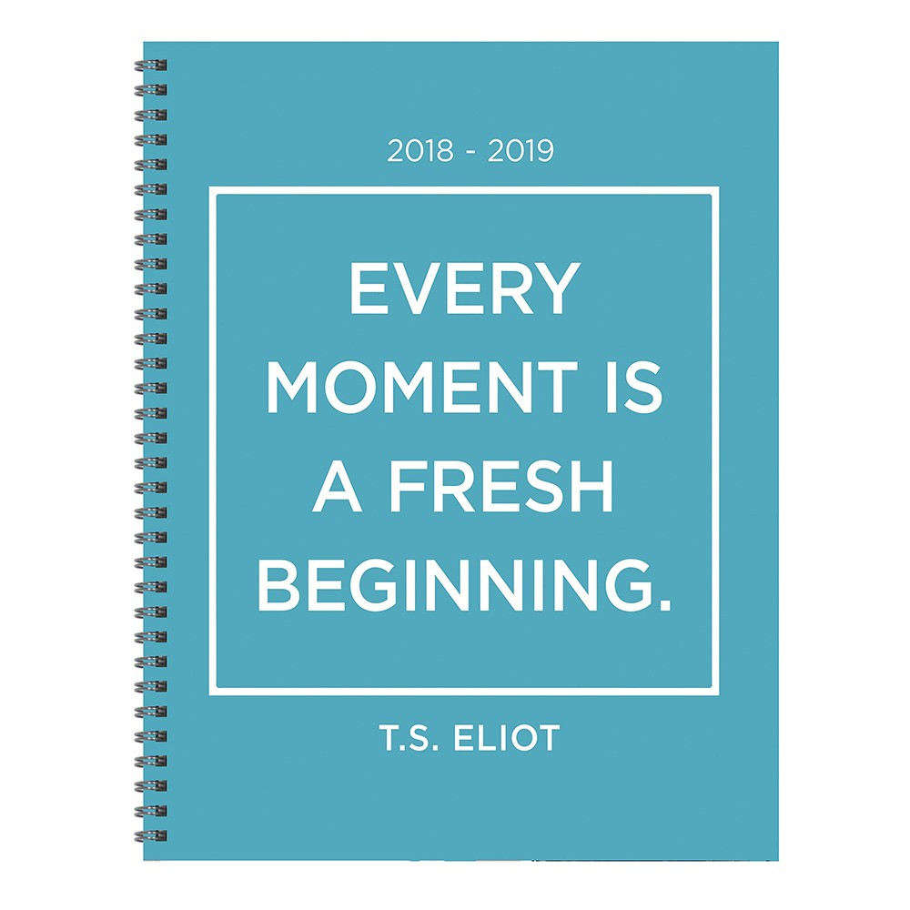 2018 - 2019 Academic Spiral Monthly Planner, Every Moment