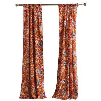 Greenland Home Fashion Astoria 2-Piece Window Curtain Panel - 42 x 84, Orange