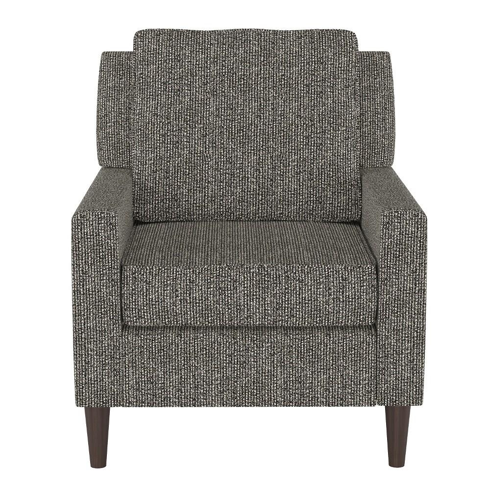 Custom Upholstered Arm Chair Black/Cream (Black/Ivory) - Skyline Furniture