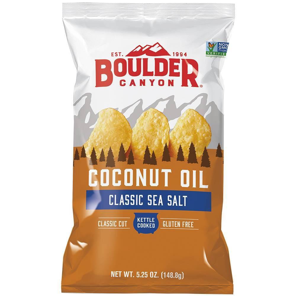 Boulder Canyon Sea Salt Kettle Cooked Coconut Oil Potato Chips - 5.25oz